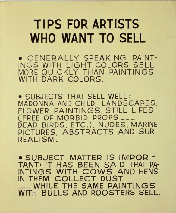 John Baldessari - Tips for Artists