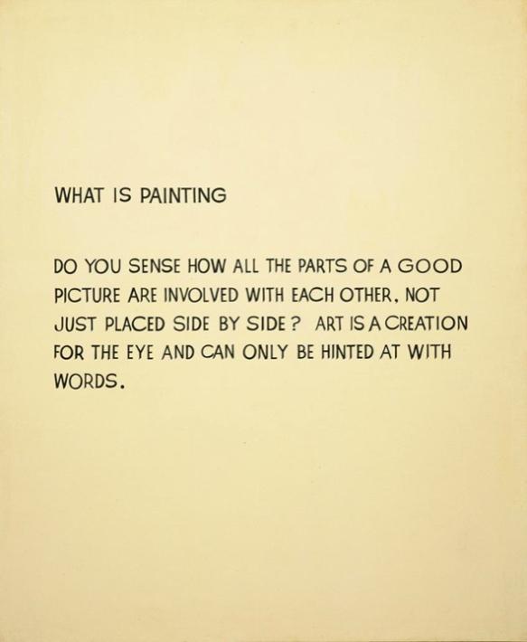 John Baldessari, What is Painting, 1968