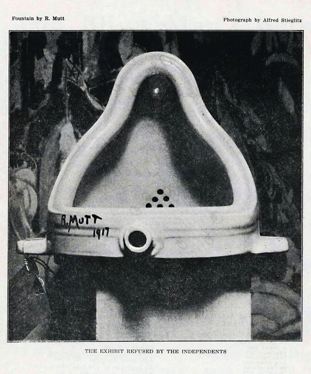 readymade duchamp essay The duchamp effect is an investigation of the historical reception of the work of   of the readymade: critique of pure modernism, thierryde duve • concept of   new essays by sarat maharaj and by molly nesbit and naomi sawelson-gorse.