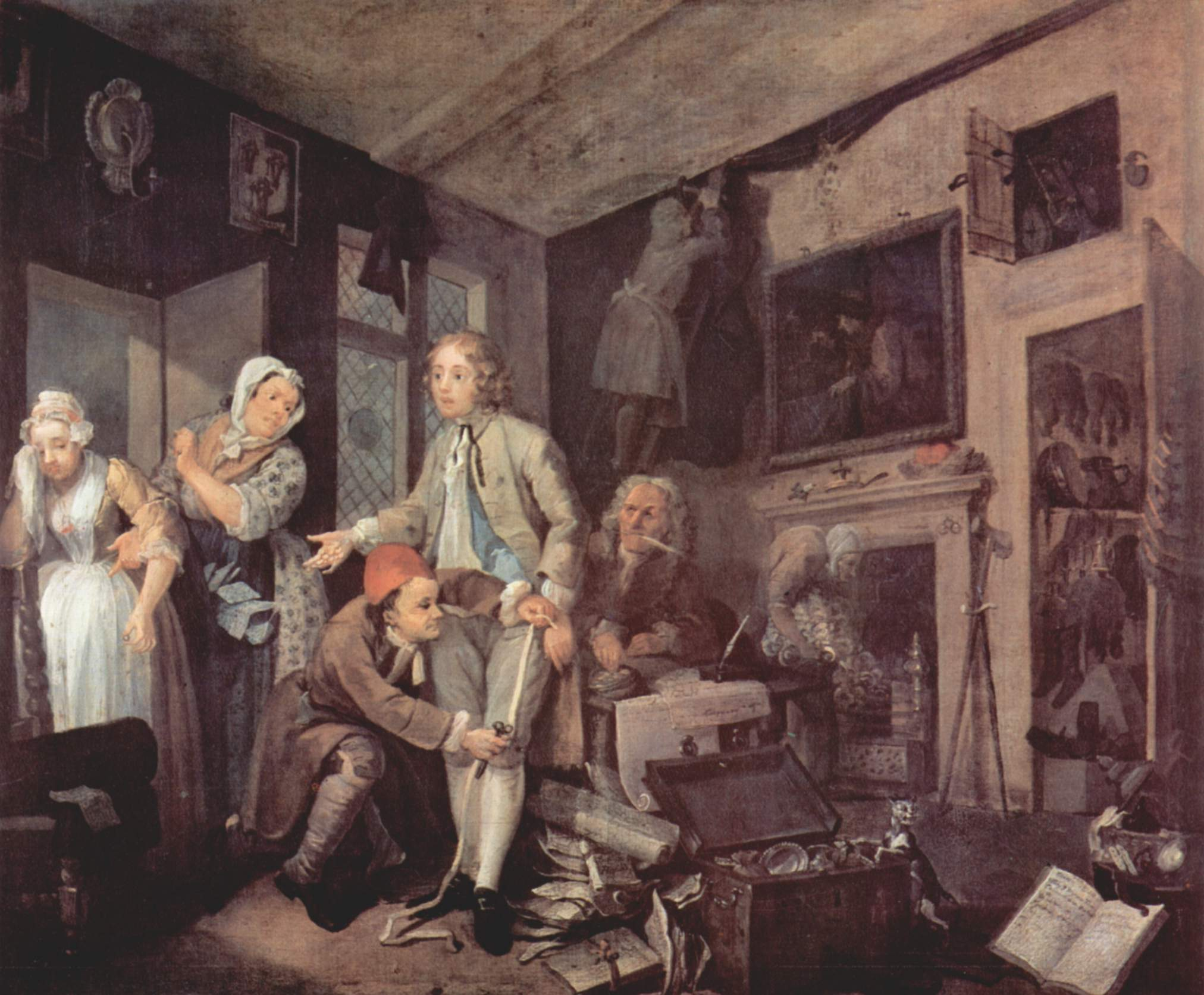 A rake s progress image object text for William hogarth was noted for painting