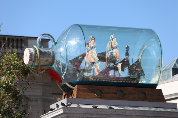 Yinka Shonibare, Nelson's Ship in a Bottle, 2010