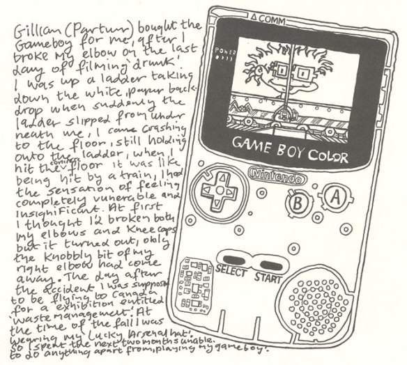 Michael Landy, Gameboy drawing, 1998