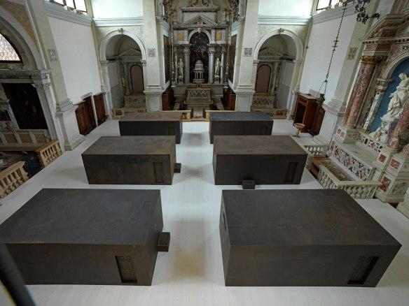 Ai Weiwei, S.A.C.R.E.D., 2013, installation in Chiesa di Sant'Antonin, Venice