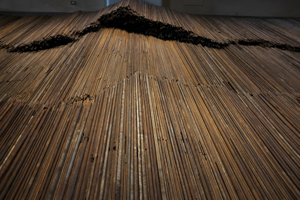 Ai Weiwei, Straight, 2012 (installed at Zuecca Project Space, Venice, 2013)