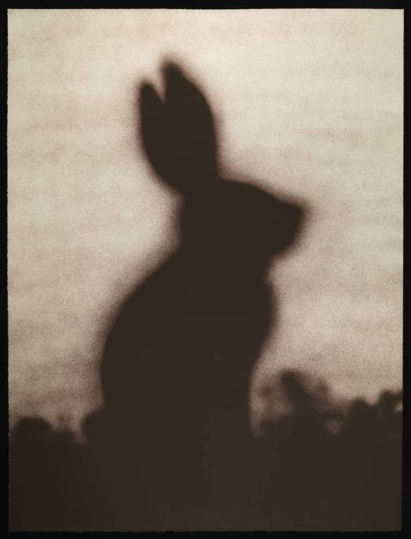 Rabbit 1986 by Edward Ruscha born 1937