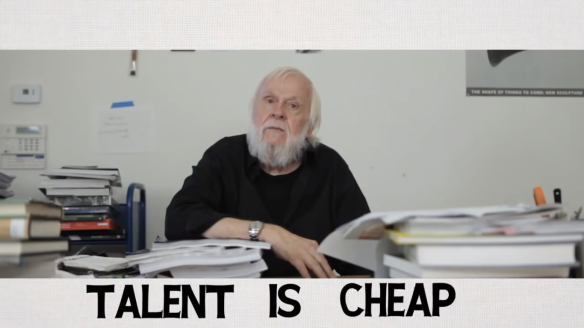 A Brief History of John Baldessari - screen shot -  Talent is cheap