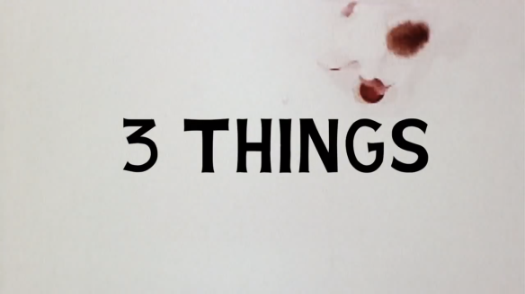 A Brief History of John Baldessari - screen shot -  Three things