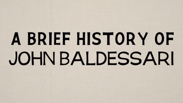 A Brief History of John Baldessari - screen shot - title screen