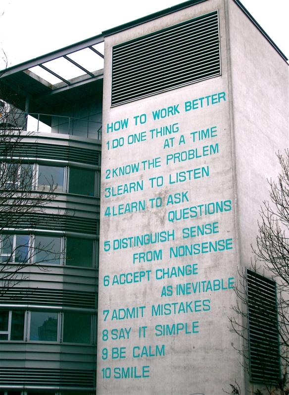 Fischli Weiss, How to work better, 1991