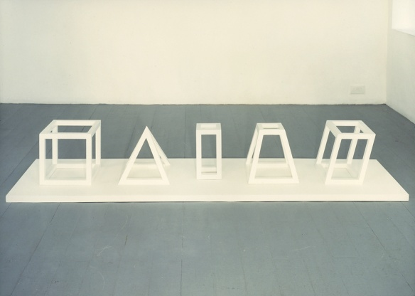 LeWitt Five Open Geometric Structures 1979