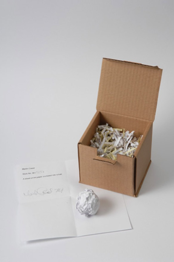 Martin Creed, Work No 88, 1995 (with box)