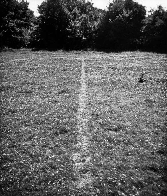 Richard Long, A Line Made by Walking, England 1967