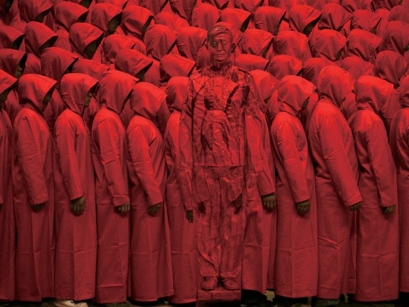 Liu Bolin red crowd