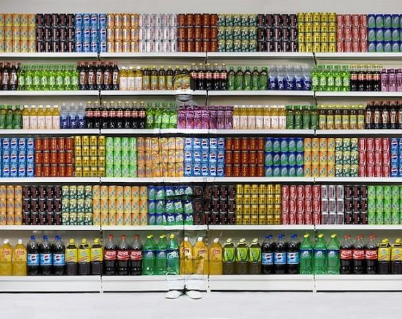 Liu Bolin, Hiding in the City No. 96 - Supermarket No. 3, 2011